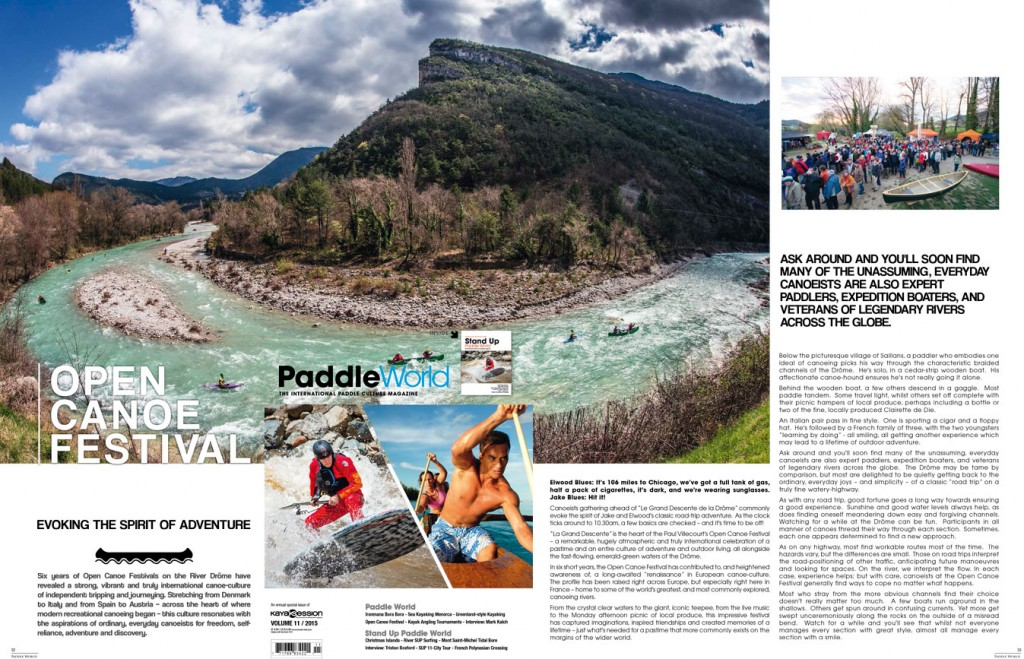 Open Canoe Festival in Paddle World