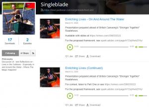 Singleblade Podcasts