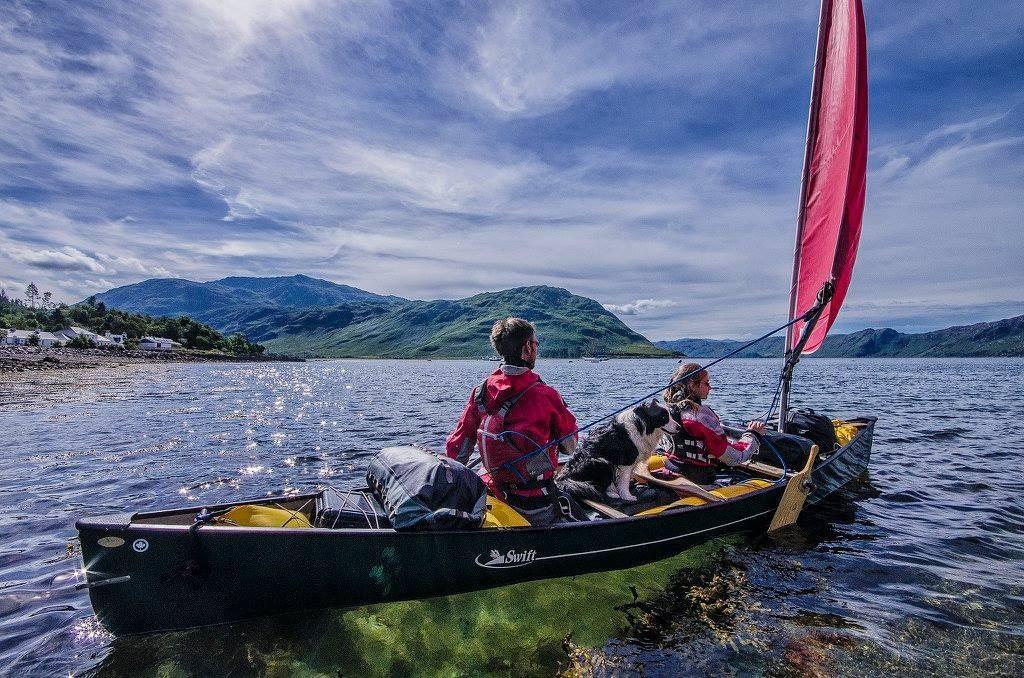 Canoe Sailing Knoydart